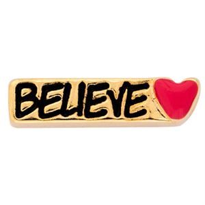 Picture of 'Believe' Gold Charm